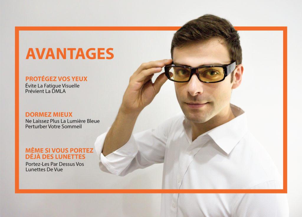 Avantages lunettes ecran