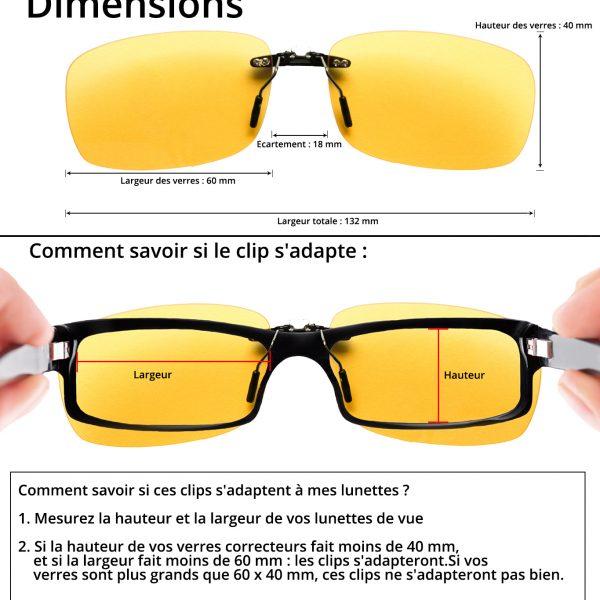 Dimension des clips pour écrans