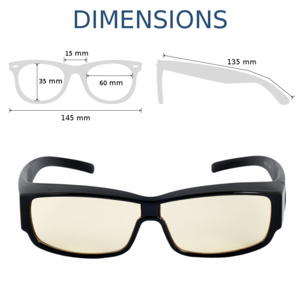 dimensions Lunettes Top Life