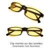 Clips pour écrans montés sur des lunettes