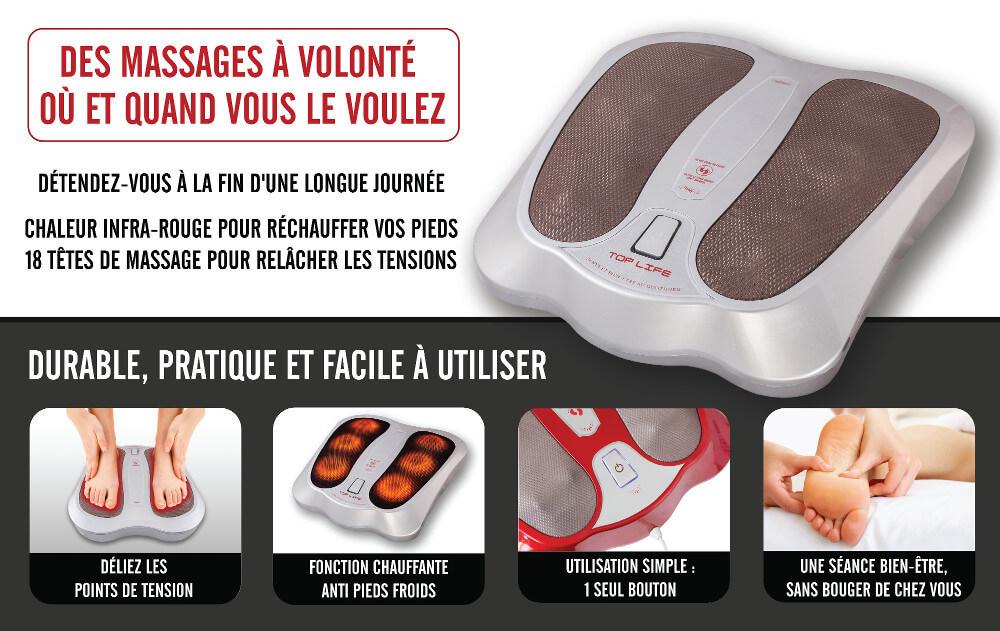 appareil massage pieds gris presentation