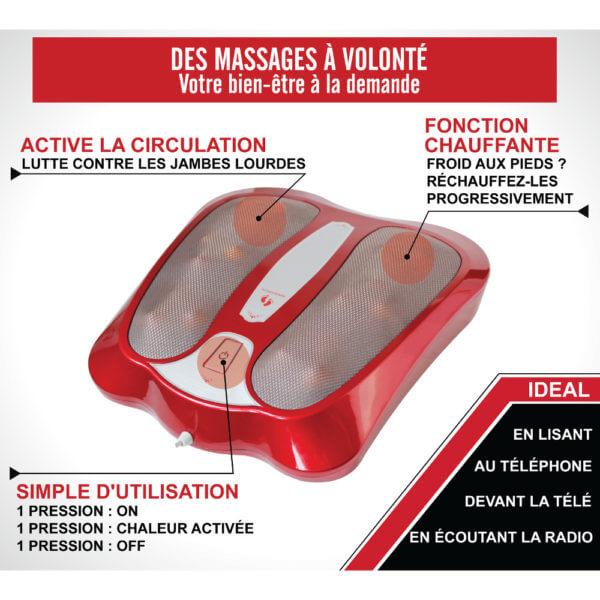 avantages test appareil massage chauffant pied