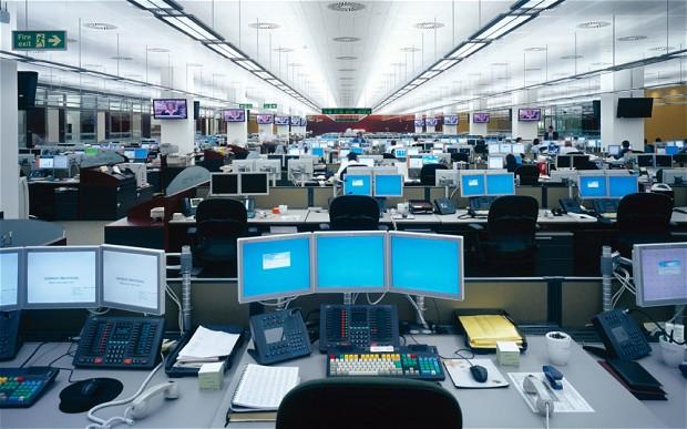 Lumière bleue au bureau