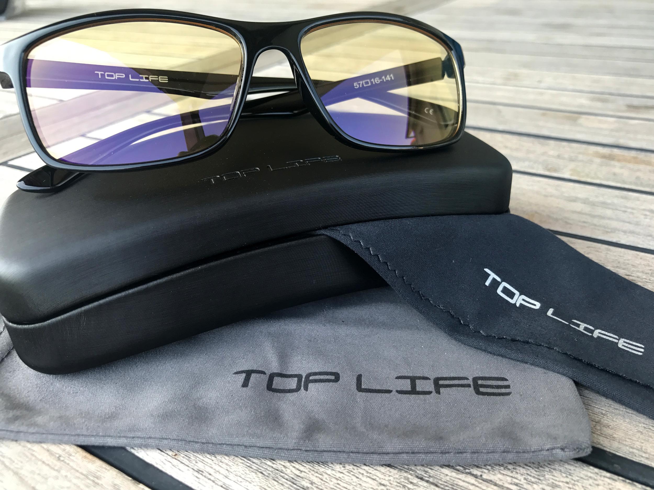 f8810740d9ffc6 ... avantages lunettes lumiere bleue  Packaging Lunettes Top Life ...