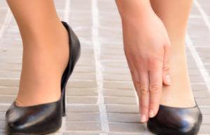 chaussures serrees douleur pieds